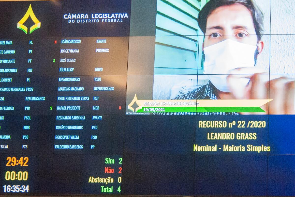 Por 12 votos a oito, e uma abstenção, o requerimento do deputado Leandro Grass para abertura da CPI foi arquivado