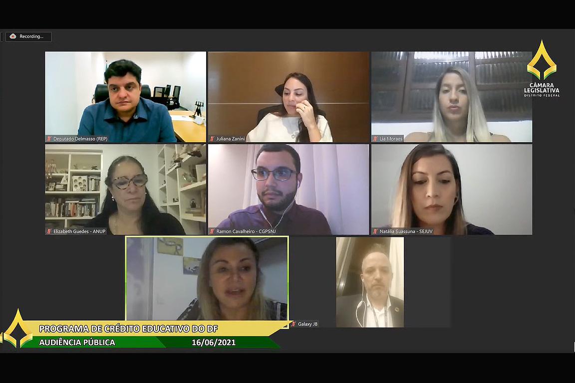 Participantes analisaram o PL 151/2019, de autoria do deputado Delmasso, que integra o crédito educativo ao programa Nota Legal, possibilitando ao estudante a criação de uma
